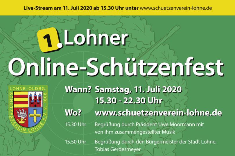 Online-Schützenfest am Samstag (11. Juli 2020)